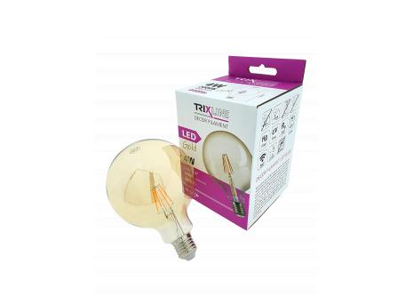 Dekorační LED žárovka FILAMENT Trixline G-125, 4W E27 GOLD