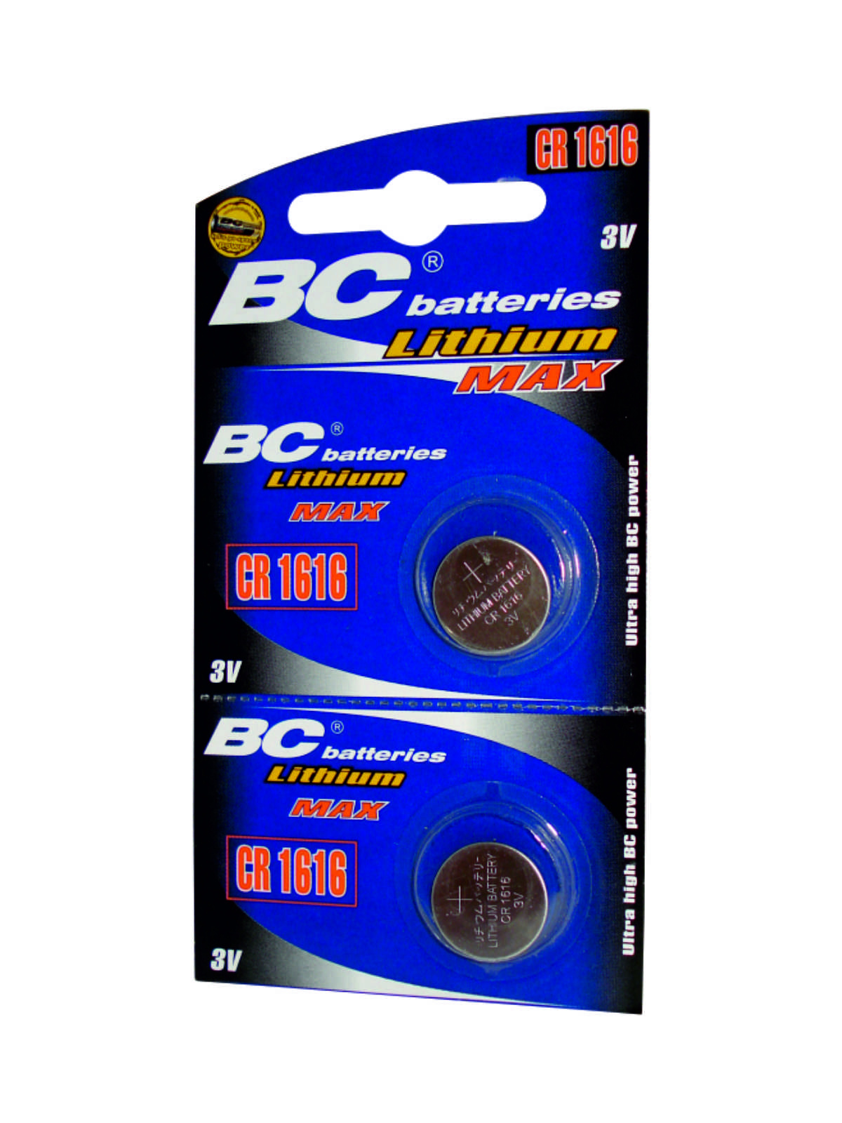 Lithium button 3V battery BCCR 1616