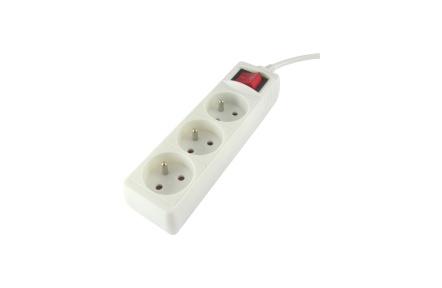 Prodlužovací přívod 3 zásuvky s vypínačem, 3m