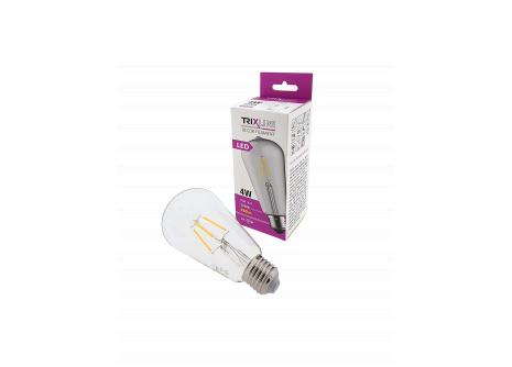 Dekorační LED žárovka FILAMENT Trixline ST-64, 4W E27 teplá bílá