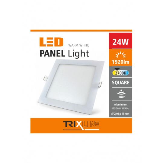Podhledové LED svítidlo TRIXLINE – 24W čtvercové teplá bílá