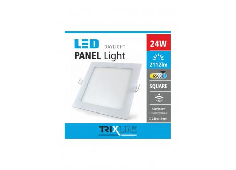 Podhledové LED svítidlo TRIXLINE – čtvercové 24W denní světlo