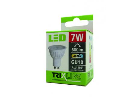 LED žárovka Trixline 7W GU10 studená bílá