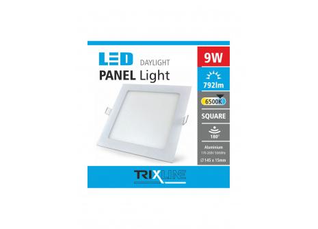 Podhledové LED svítidlo TRIXLINE – čtvercové 9W denní světlo