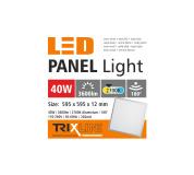 mennyezeti LED panel TRIXLINE - 40W meleg fehér