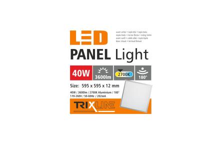 Podhledový LED panel TRIXLINE - 40W teplá bílá