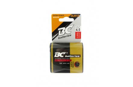 Alkalická plochá 4,5V baterie BC 3LR12/1P