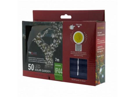 Solární vánoční LED řetěz TR 312 denní bílá