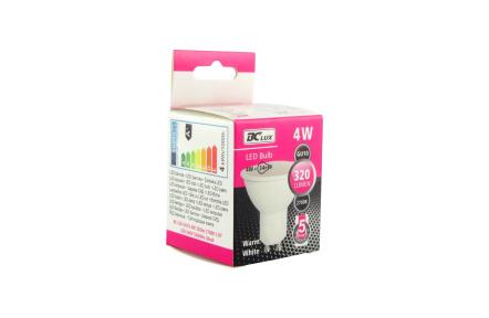 LED žiarovka 4W GU10 teplá biela 5 ročná záruka