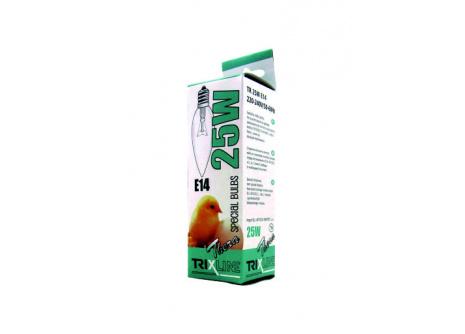 Speciální žárovka Trixline C35, 25W E14 teplá bílá