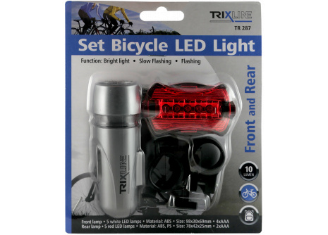 Set osvětlení na kolo TRIXLINE TR 287