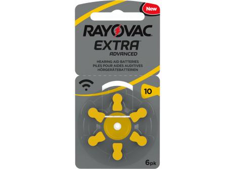 Zinko-vzduchová knoflíková 1,4V baterie Rayovac PR230/6BP (PR10)