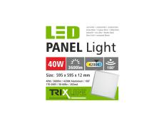 Podhledový LED panel TRIXLINE - 40W studená bílá