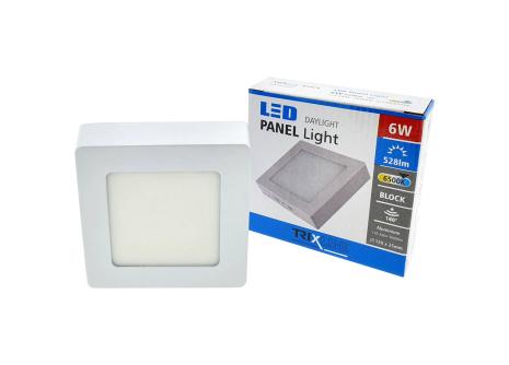 Podhledové LED svítidlo TRIXLINE – přisazené čtvercové 6W denní světlo
