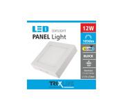 Podhledové LED svítidlo TRIXLINE – přisazené čtvercové 12W denní světlo