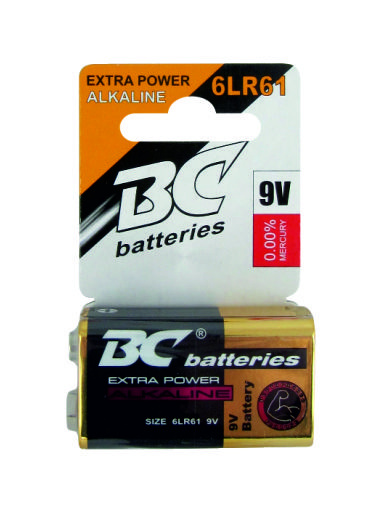 Alkalická 9V baterie BC6LR61/1P