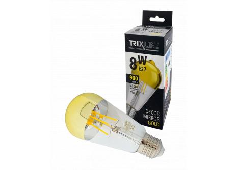 Dekorační LED žárovka Trixline DECOR MIRROR ST64, 8W GOLD