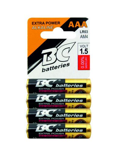 Alkalická mikrotužková baterie BCLR03/4P