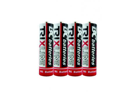 Trixline zinkochloridová tužková AA baterie 1,5V R6