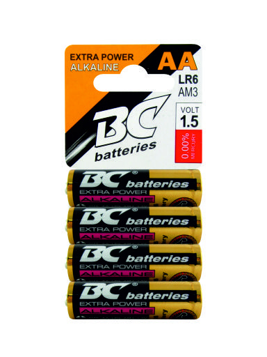 Alkaline pencil battery 1,5V BCLR6/4P