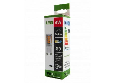 LED žárovka Trixline 4W G9 studená bílá