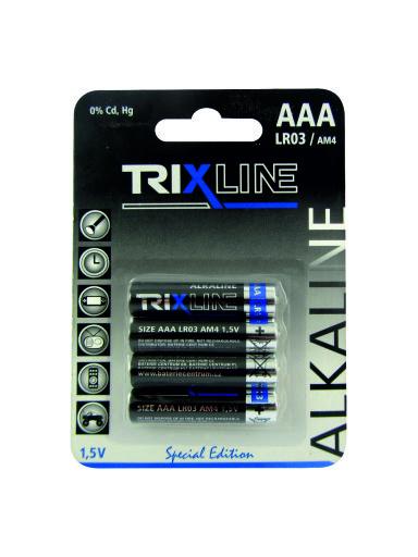 Alkalická mikrotužková 1,5V baterie BCRL03/4BP TRIXLINE
