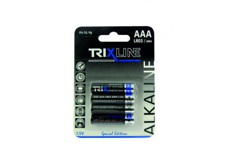 Trixline alkalická mikrotužková AAA baterie 1,5V LR03