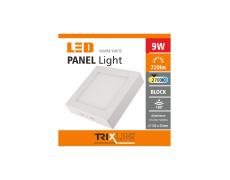 Podhľadové LED svietidlo TRIXLINE – prisadené štvorcové 9W teplá biela