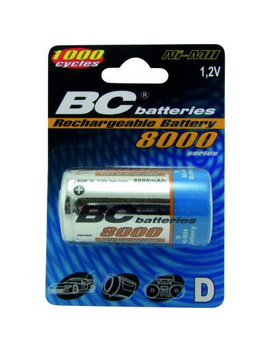 Nabíjecí 1,2V velký monočlánek BCR20/8000/2BP