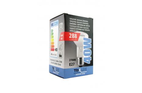 speciális izzó BC R63 40W E27 meleg fehér