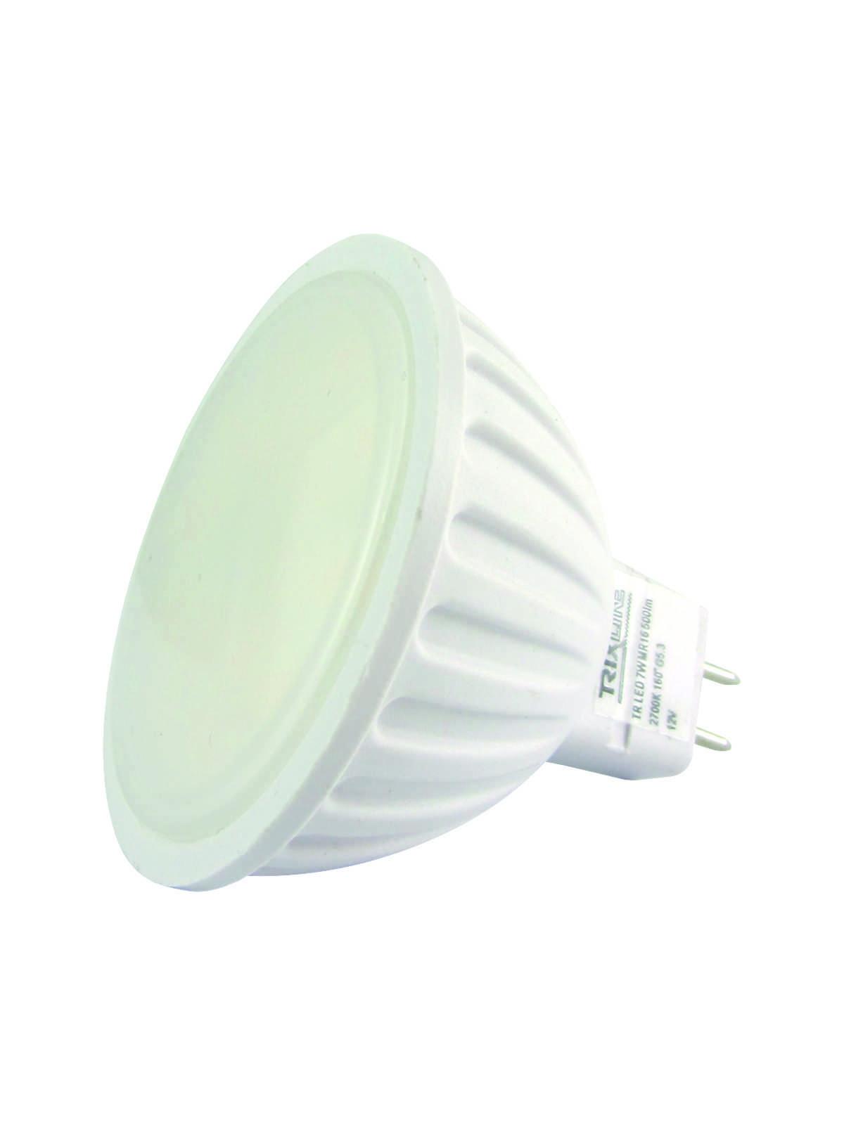 LED bodová žárovka BC MR16 7W 12V teplá bílá