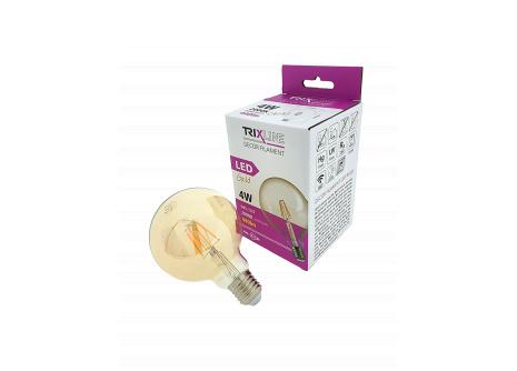 Dekorační LED žárovka FILAMENT Trixline G-95, 4W E27