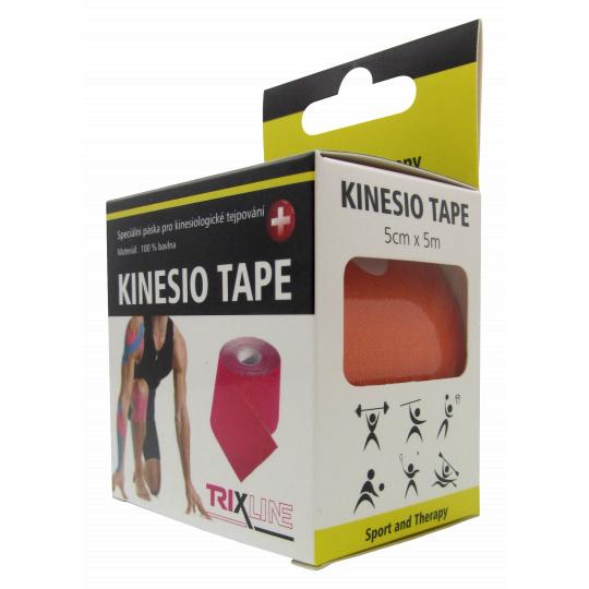 Trixline KINESIO páska 5cm x 5m oranžová
