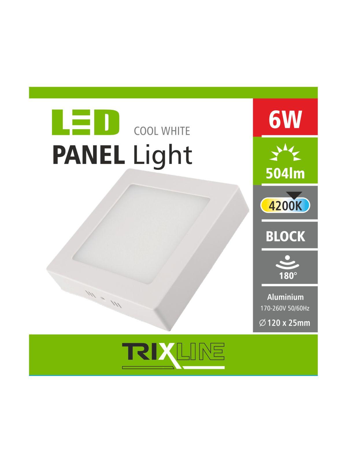 Podhledové LED svítidlo TRIXLINE – přisazené čtvercové 6W studená bílá