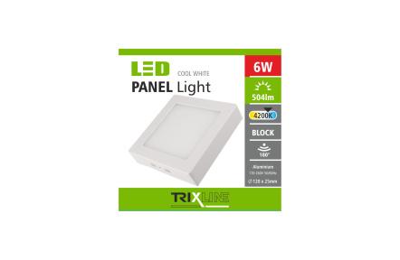 pOniżejhledové LED lampa TRIXLINE – nasazné kwadratowy 6W zimno biały