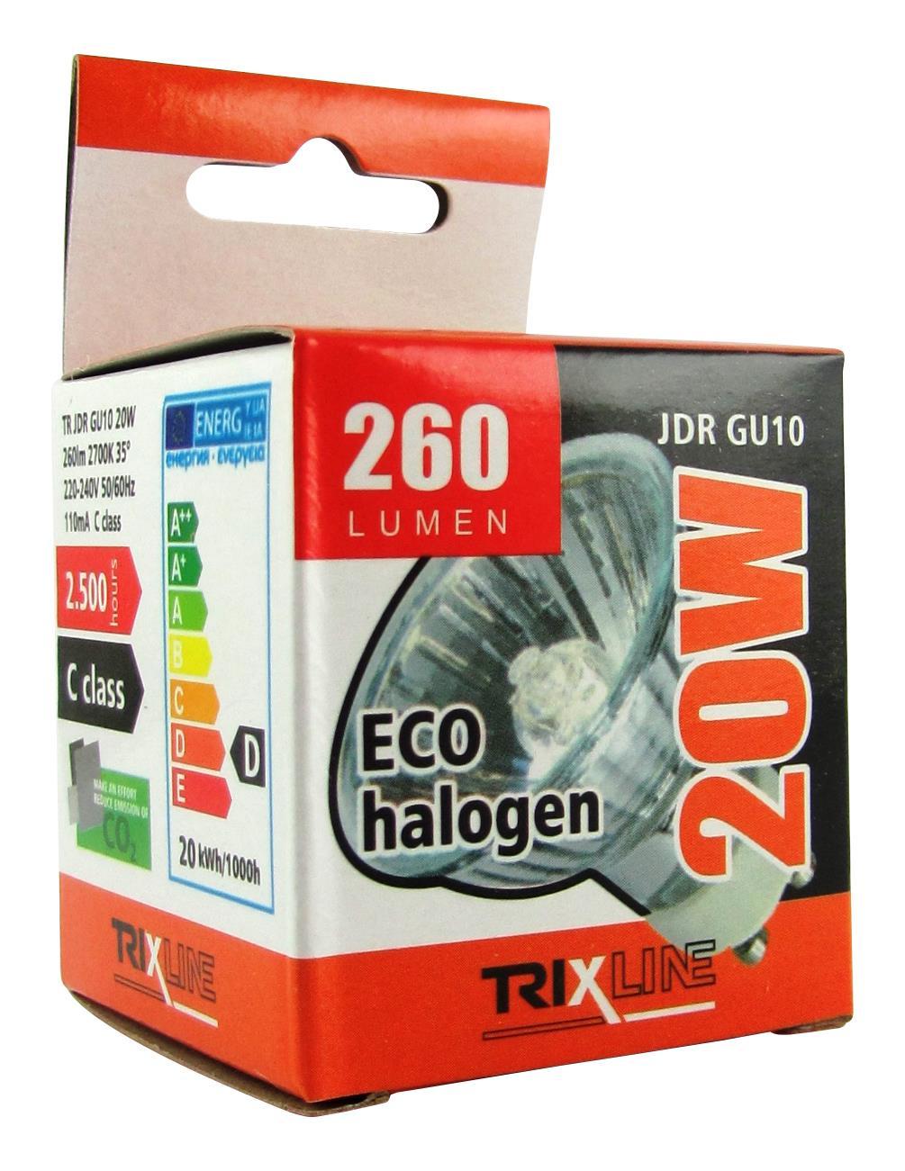 Halogenová bodová žárovka BC JDR/C GU10 20W teplá bílá