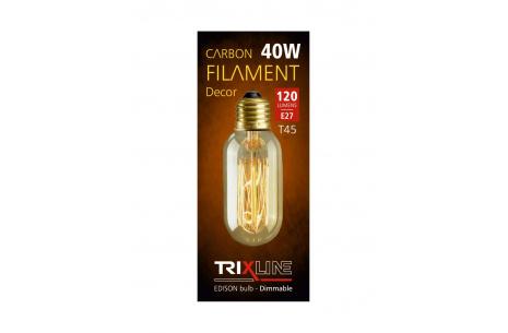 Dekorační stmívatelná žárovka Trixline 40W E27 (T45-SC13)