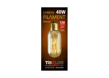 Dekorační stmívatelná žárovka Trixline T45, 40W E27