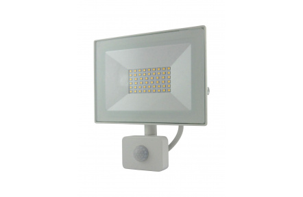 BC 30W LED FLOOD LIGHT 4200K SENSOR WHITE