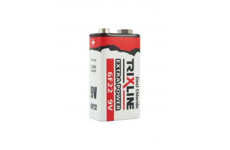 Zinkochloridová 9V baterie BC 6F22/1P TRIXLINE Extra Power
