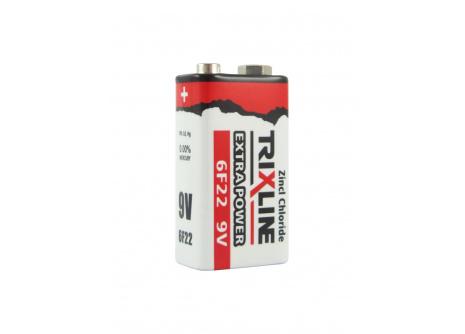 Trixline Extra power zinkochloridová baterie 9V 6F22
