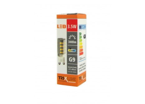 LED žárovka Trixline 3,5W G9 teplá bílá