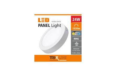 mennyezeti LED lámpa TRIXLINE – felületre szerelt 24W meleg fehér