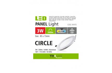 Podhledové LED svítidlo TRIXLINE – kulaté 3W