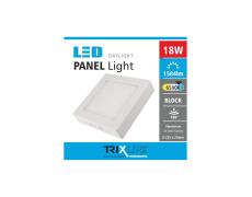 Podhledové LED svítidlo TRIXLINE – přisazené čtvercové 18W denní světlo