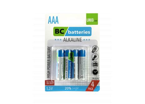 BC batteries alkalická mikrotužková AAA baterie 1,5V  LR03