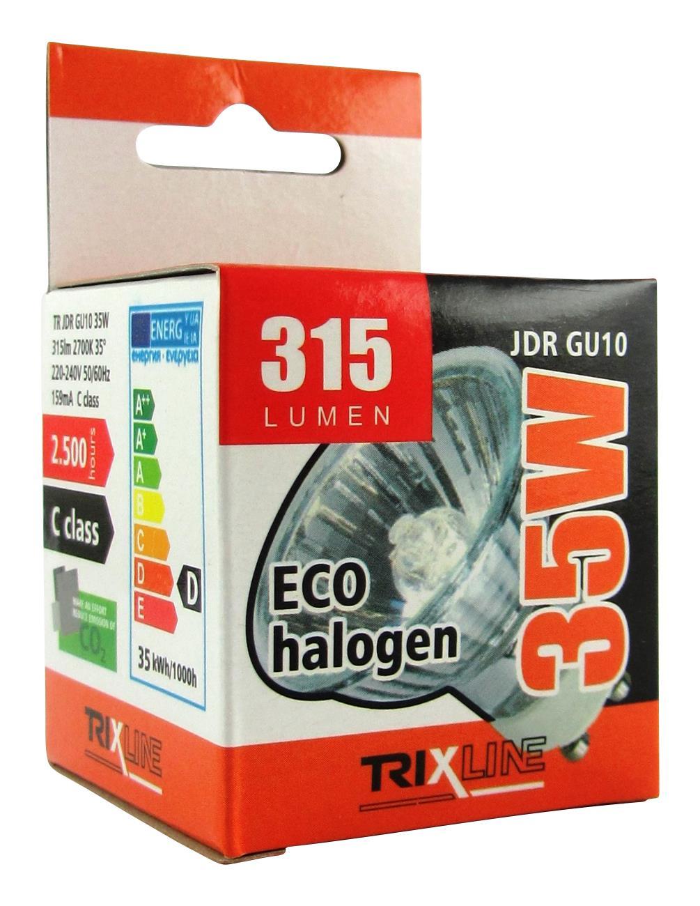 Halogenová bodová žárovka BC JDR/C GU10 35W teplá bílá