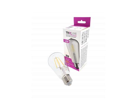 Dekorační LED žárovka FILAMENT Trixline ST-64, 8W E27 teplá bílá