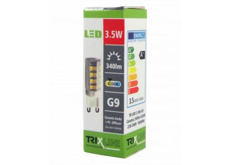 LED žárovka Trixline 3,5W G9 studená bílá
