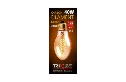 Żarówka dekoracyjna z możliwością ściemniania światła Trixline 40W E27 (B53-s32)